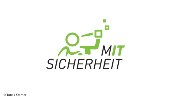 Logo Illustration  MIT Sicherheit für IT  thema Variante 2